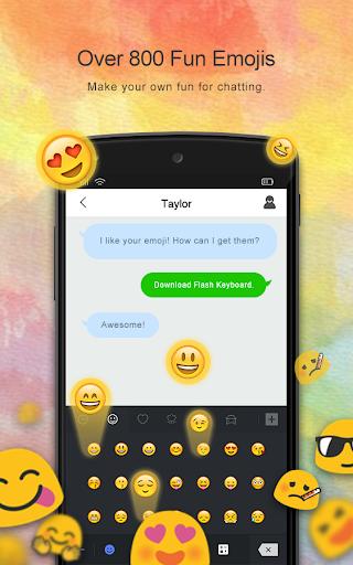 Flash Keyboard - Emoji & Theme screenshot 1