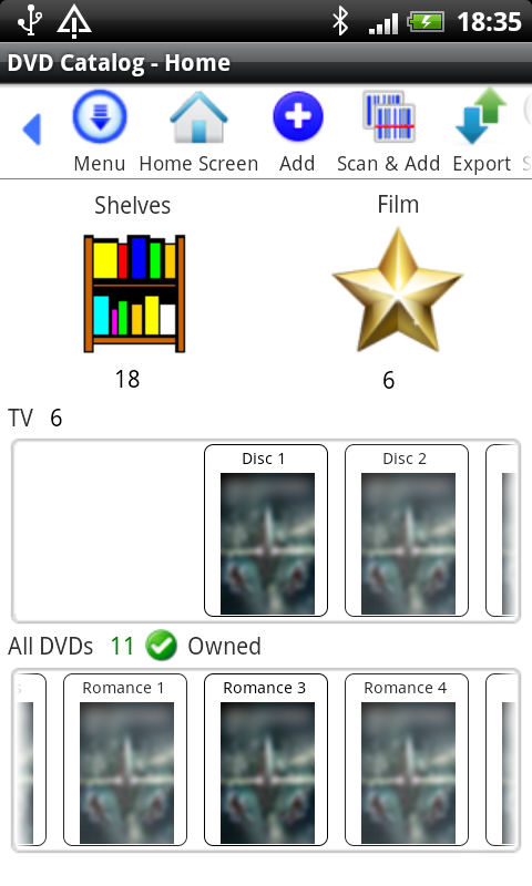 DVD Library- screenshot