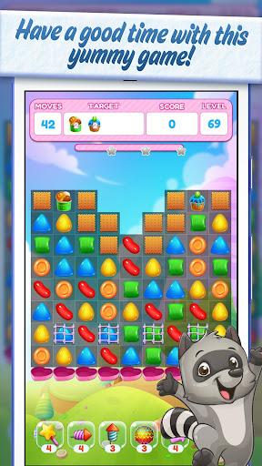 Sweet Candy Yummy 🍮 Color Match Crush Puzzle  captures d'écran 2
