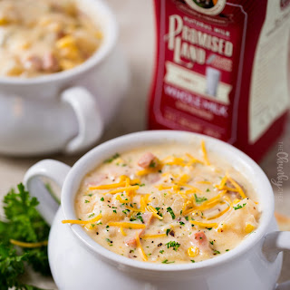 Slow Cooker Cheesy Ham Chowder.