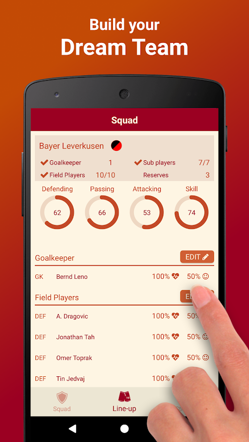 Screenshot 2 Be the Manager 2018 - Football Strategy 2.2.3 APK MOD