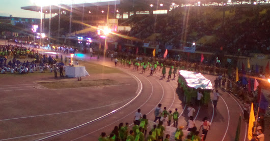 Batang Pinoy National Championship Finals Opening Ceremony Cebu City Philippines.