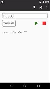 Morse code translator - náhled