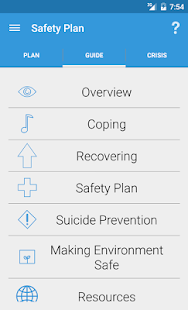 Suicide Safety Plan- screenshot thumbnail