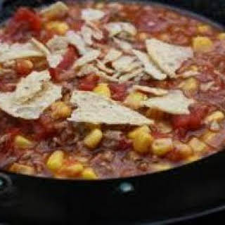 Crock Pot Southwest Beef Chili Stew.