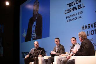 Photo: Panelists: Trevor Cronwell, appbackr Inc., Harvey Elliot, Marmalade, Ted Driscoll, Sencha