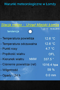 Meteo Łomża- screenshot thumbnail