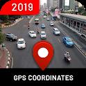 World Maps, Street View: My location coordinates icon