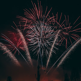 Celebration day by Paul Voie - Abstract Fire & Fireworks ( cluj, cluj-napoca, long exposure, fireworks, night photography )