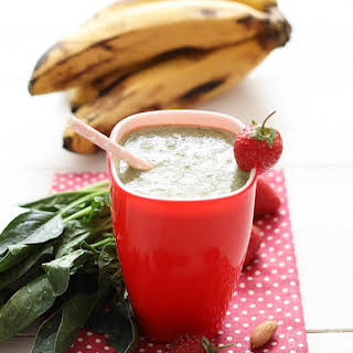 Strawberry Banana Smoothie with Baby Spinach.