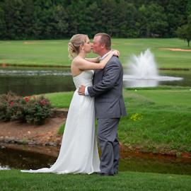 by Myra Brizendine Wilson - Wedding Bride & Groom ( bride, groom, couple, bride and groom, wedding,  )