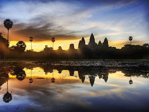 Photo: Sunrise Discovery of Angkor Wat  I feel a bit like a British explorer, surrounded by my cadre of Cambodians at $18 a day.  They drive me around, carry my tripod, bring me water when I am thirsty, and seem anxious for me to colonize the area.  A member of my cadre woke me up early this morning at 5 AM.   - from Trey Ratcliff at www.stuckincustoms.com