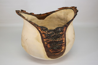 "Photo: Matt Radke 9"" x 9"" Mike Sorge demo bark-edge winged vase, completed [maple]"