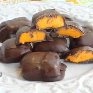 Valentines Day Orange Chocolate Creams.