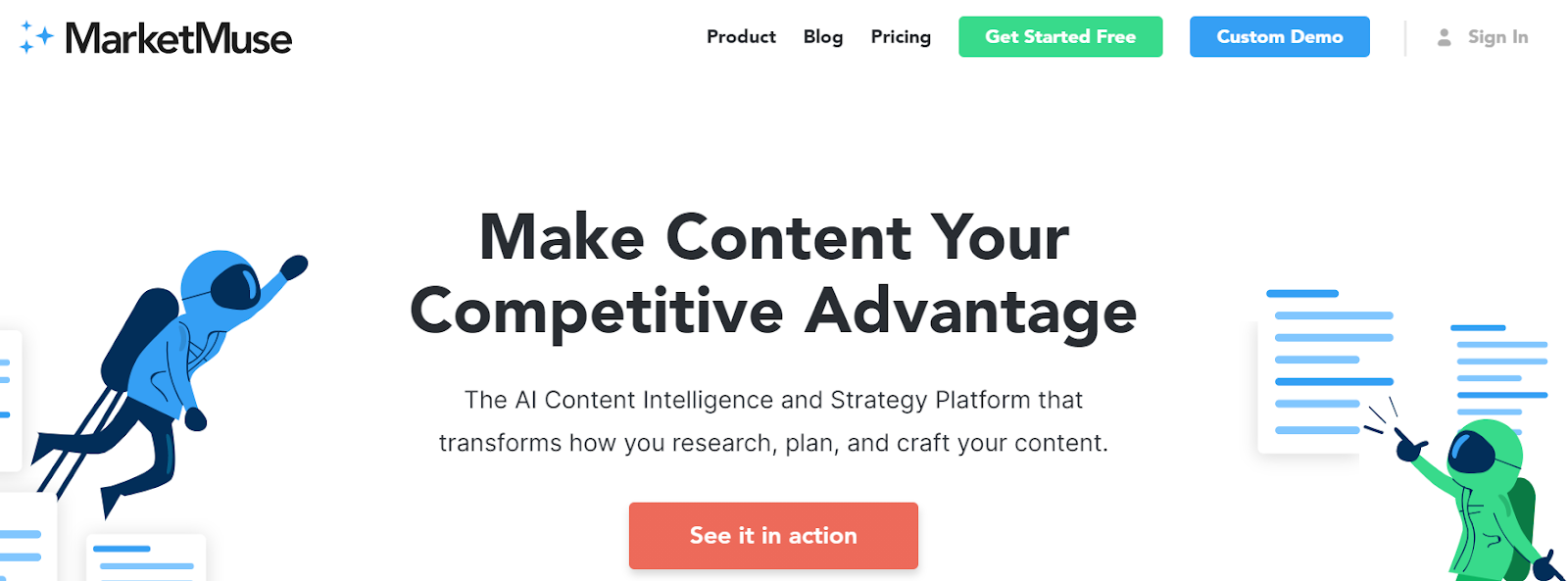 MarketMuse content optimization tool