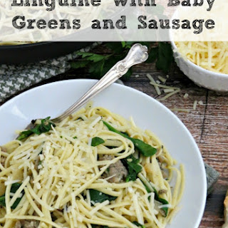 Pasta with Sausage and Baby Greens