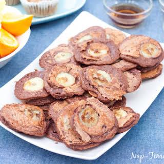 Whole Wheat Choco Banana Pancakes with Nesquick.
