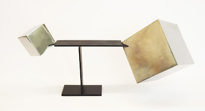 Photo: TRIUMPH OF SMALL - 18H X 31W X 12D Polished and Painted Mild Steel and Lead, Interactive Kinetic, Rear View