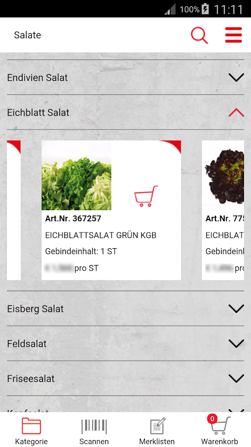 Transgourmet- screenshot