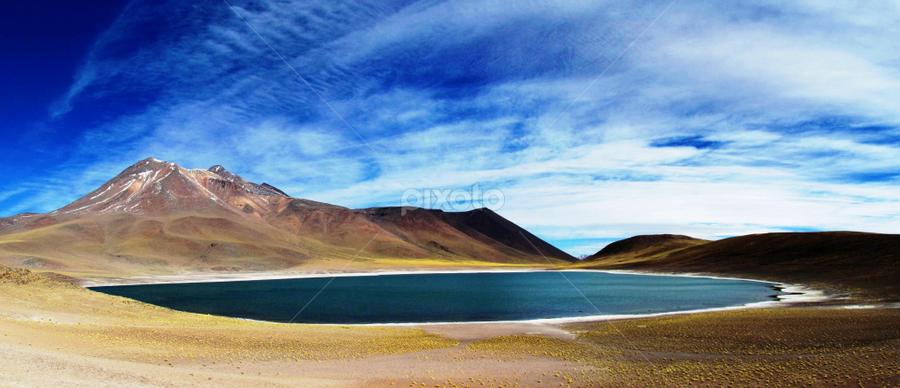 Laguna Miscanti by Fabio Ferraro - Landscapes Waterscapes ( chile, laguna, laguna miscanti, lake, landscape )