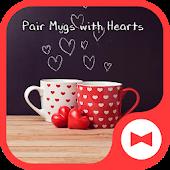 Tải Game Hình nền xinh xắn Pair Mugs with Hearts