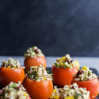 Mediterranean Quinoa Stuffed Tomatoes.