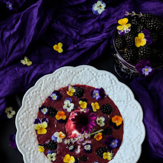 Blackberry Lavender Dessert Soup.