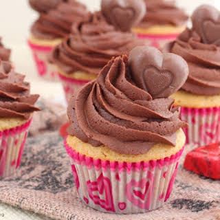 Peanut Butter Cupcakes With Chocolate Frosting.