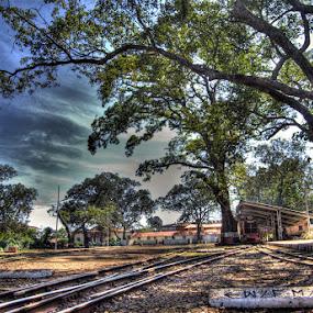Sleepy Matheran Station  by Aparajita Saha - City,  Street & Park  Vistas ( train, matheran, india, hill station, maharashtra, railway tracks )