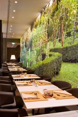 Photo: Escape back to nature.. while you eat a meal at the Starhotels Echo, Milan