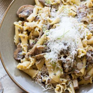 Campanella with Mushroom Sauce