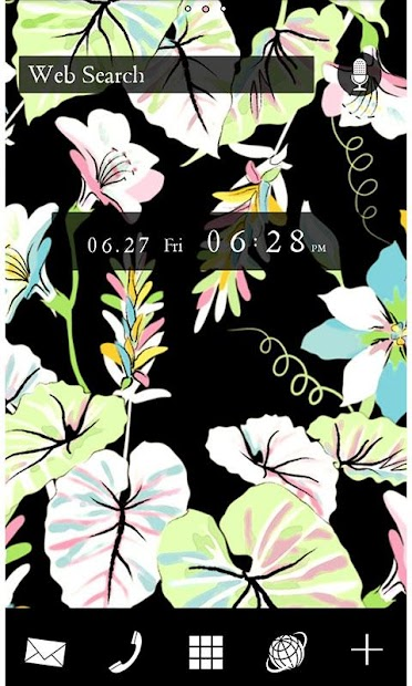 Flowers Theme-Floral- Android App Screenshot