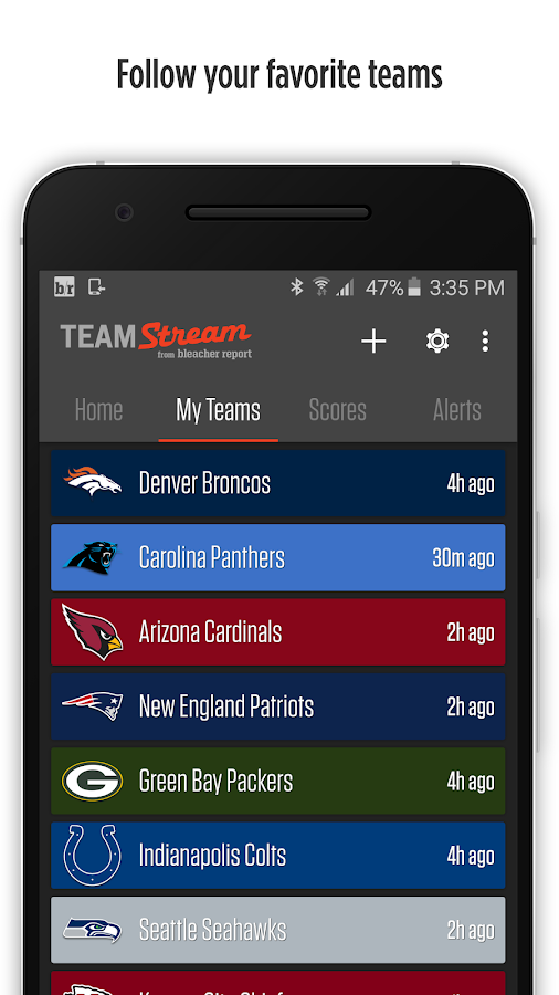 Bleacher Report Team Stream  Android Apps On Google Play