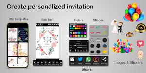 screenshot of Invitation maker 2020 Birthday & Wedding card Free