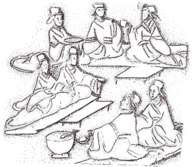 Пирушка, рельеф, около 2 века нашей эры