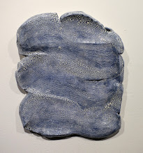 """Photo: """"Cloud"""" Underglaze layers applied to greenware, scraped off, fired, then crackle glaze applied."""