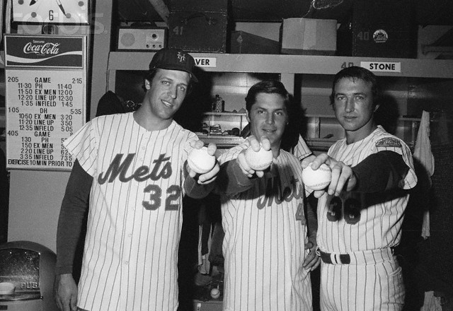 Photo: 1975, Jon Matlack, Tom Seaver and Jerry Koosman