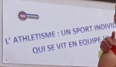 Photo: L'ATHLETISME : UN SPORT INDIVIDUEL QUI SE VIT EN EQUIPE !!!