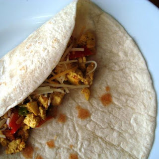 Vegan Breakfast Burrito with Tofu