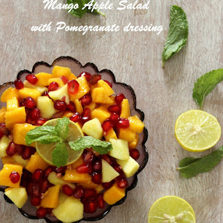 Mango Apple Salad with Pomegranate Dressing.