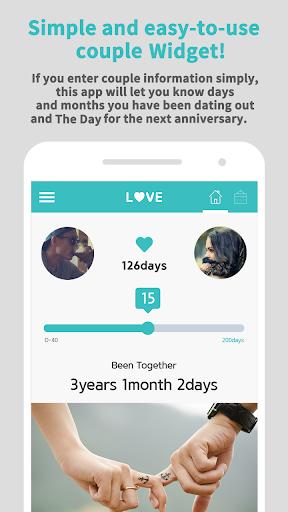 Couple Widget - Love days Countdown 1.9.9 screenshots 2