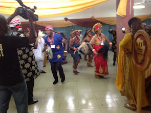 Photo: Cultural Dancers led by Prof Oby Okonkwor of UNIZIK, Awka