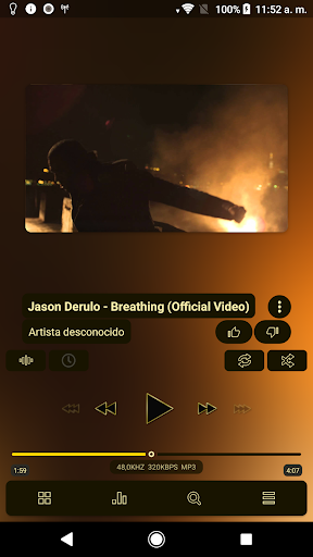 Screenshot for Poweramp v3 skin gold in United States Play Store