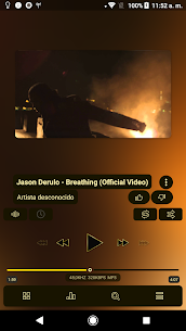 Poweramp v3 skin gold 1.0.3 MOD for Android 3