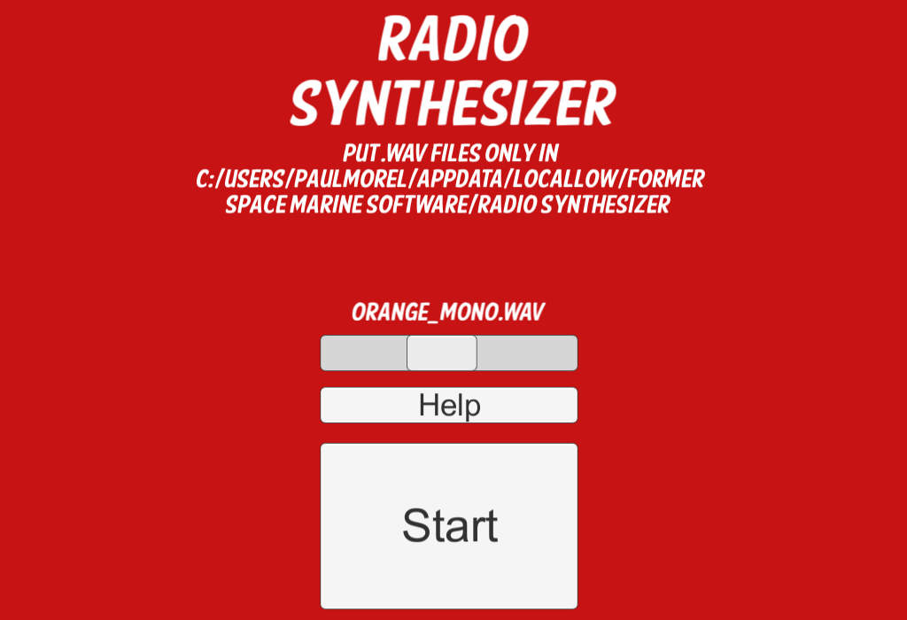 Radio Synthesizer- screenshot