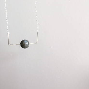 Labradorite Stone Long Necklace
