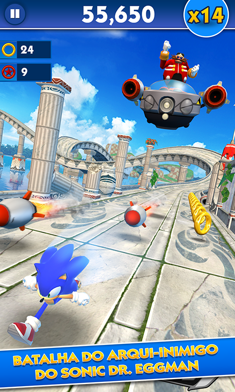 Sonic Dash: captura de tela