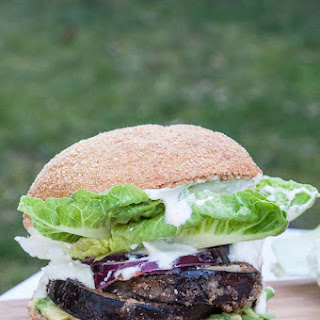 Healthy Eggplant Burger w/ Vegan Mayo