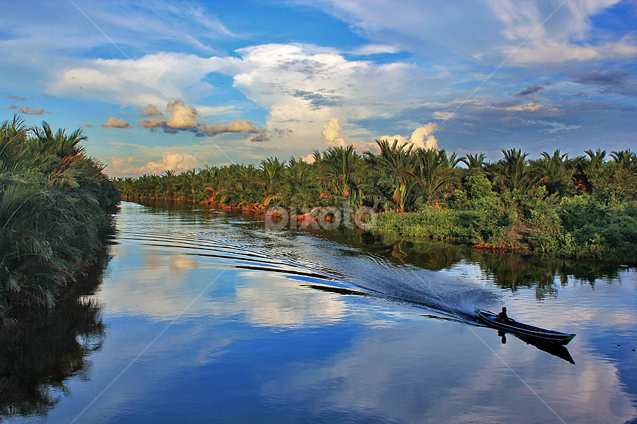 Blue by Rifki Muslim - Landscapes Waterscapes ( south borneo )