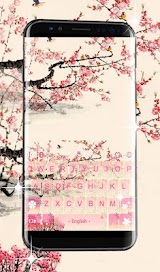 Pink Plum Blossom Keyboard Theme Apk Download Free for PC, smart TV